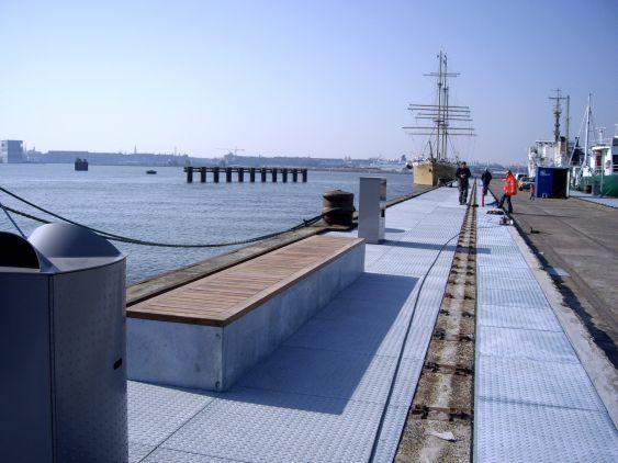 Inrichting pier Mt. Ondinaweg